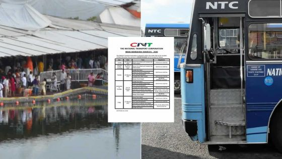 Maha Shivaratree : la CNT met en place un service spécial