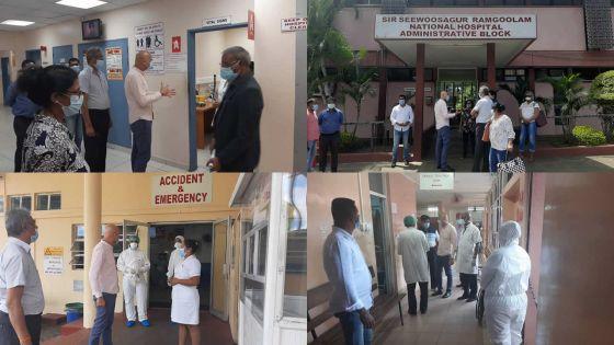 Covid-19 : Kailesh Jagutpal fait la tournée des hôpitaux