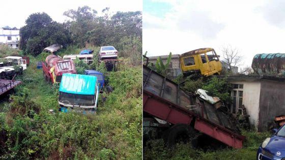 Quartier-Militaire : des carcasses de véhicules abandonnées source de nuisance