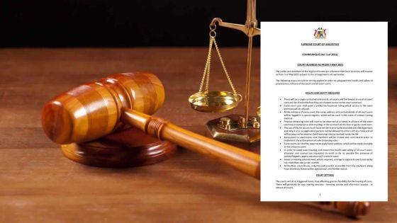 Tribunaux : reprise des travaux le lundi 3 mai 2021