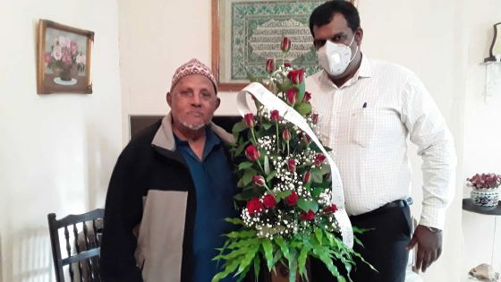 Kareem Abdul Saib, ses cent ans fêtés en confinement
