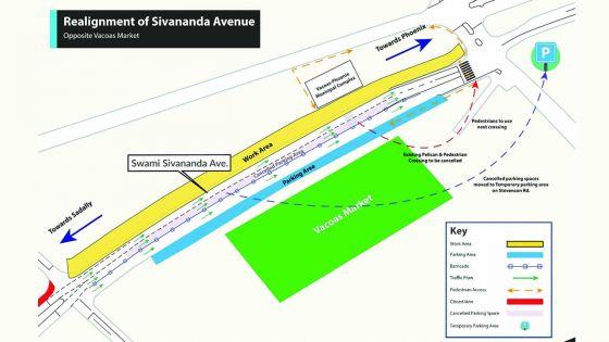 Réalignement de l'avenueSwami-Sivananda à Vacoas