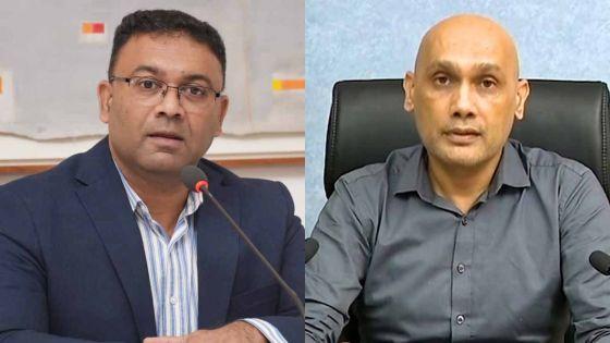 Jagutpal et Sawmynaden face à la presse à 13 h