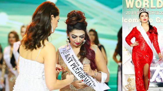 Mrs Universe 2019 : Yasheena Raghoonundun remporte le titre de Best Performance