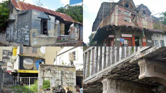 Danger : des bâtiments délabrés à Port-Louis