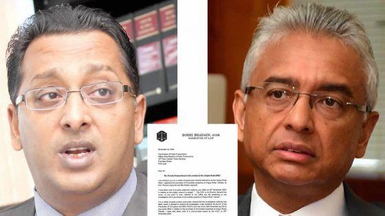 Angus Road : Roshi Badhain écrit au DPP dans le sillage de la Private Prosecution qu'il compte intenter à Pravind Jugnauth