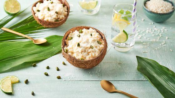 Riz au lait de coco et pistache : pour six personnes