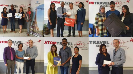Salon du Prêt-à-Partir 2019 :Atom Travel récompense cinq visiteurs