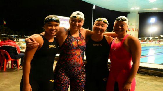 JIOI – Natation – L'or pour Maurice au 4 x 100 m 4 nages dames