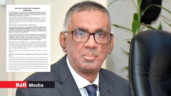 « Kistnen Papers » : l'affaire référée au Commissaire de Police, dit l'ESC