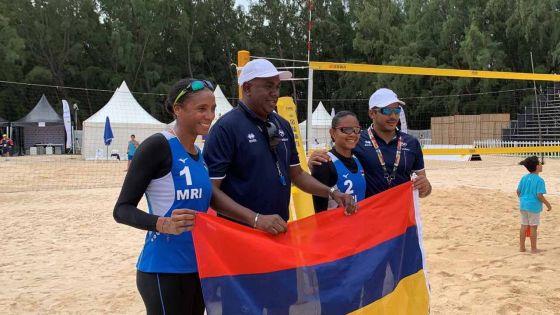 JIOI- Beach-Volley : Maurice remporte l'argent, «ce n'est pas la couleur que je cherchais» confie Maita Bassy