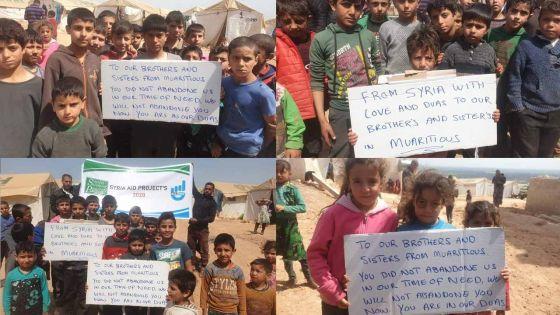 Complete lockdown : des enfants syriens expriment leur solidarité aux Mauriciens