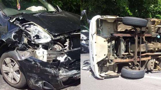 Beaux-songes : un accident entre une voiture et un camion fait 5 blessés légers