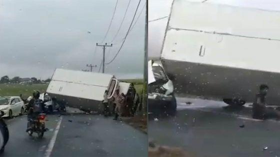 Queen-Victoria : un accident entre un camion et une 4x4 fait six blessés