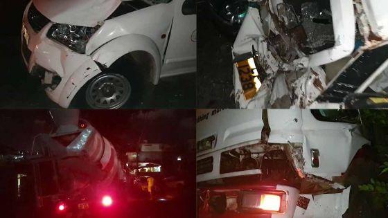 Vallée-Pitot - un camion sans chauffeur percute quatre véhicules