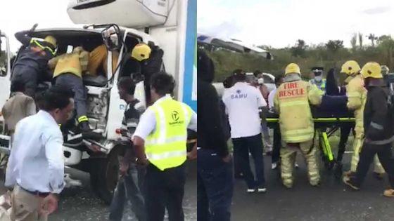 Côte d'Or : une collision entre deux poids lourds nécessite l'intervention des pompiers