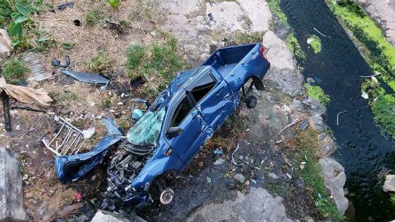 Accident à la route Nicolay, Sainte-Croix