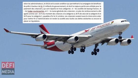 Air Mauritius : fin de l'administration volontaire, les créanciers acceptent à presque l'unanimité le plan de redressement des administrateurs