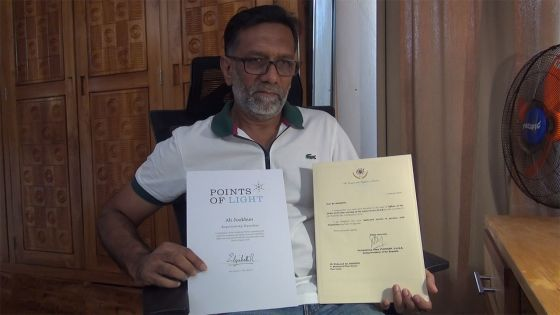 Fête nationale : Ali Jookhun a été promu au rang d'OSK