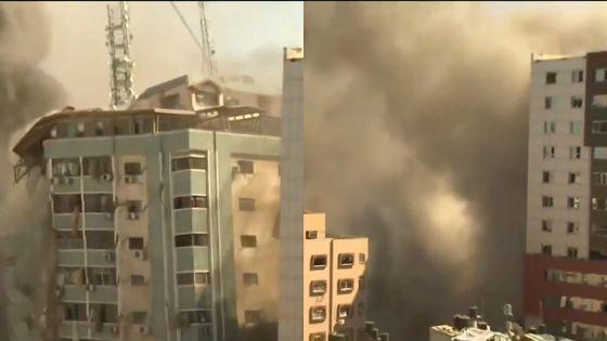 Gaza : l'immeuble des médias Al-Jazeera et AP pulvérisé par une frappe israélienne