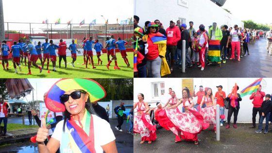 [En images] JIOI - Football - L'ambiance avant le match Maurice/Seychelles