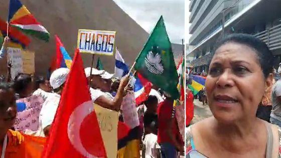 Manif devant le Haut-commissariat britannique : «Je suis née de parents chagossiens», confie Ariane Navarre-Marie