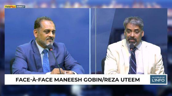 Suivez le face-à-face Maneesh Gobin/Reza Uteem