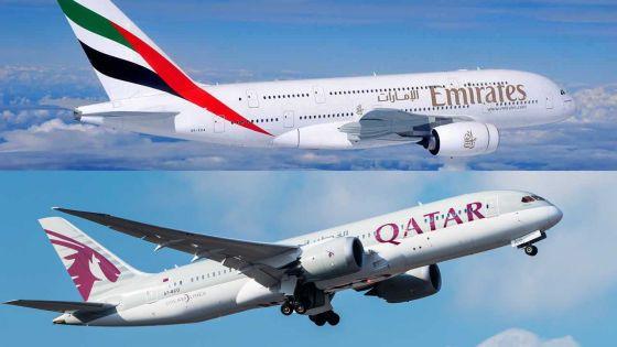 Selon Africa Intelligence : compétition entre Emirates Airlines et Qatar Airways pour débarquer dans le ciel mauricien