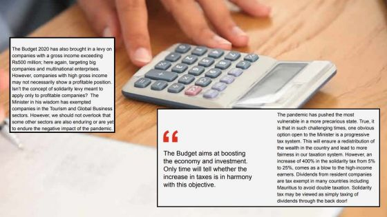 Budget 2020-21 - Fiscalité : les taux font débats