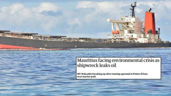 «Crise environnementale», «l'île touristique frappée» : la presse internationale commente la fuite d'huile du Wakashio