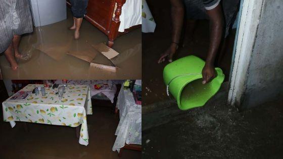 En images : la famille Gokhool de Bell Village les pieds dans l'eau