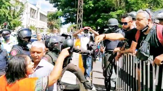 Comparution du ministre Sawmynaden : accrochage entre le syndicaliste Tan Yan et l'une des sœurs Brasse