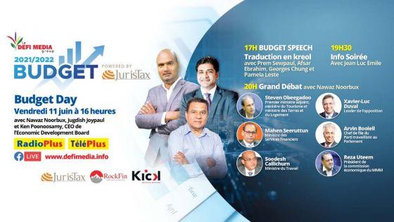 Budget Day : plateau spécial sur Radio Plus et TéléPlus ce vendredi 11 juin