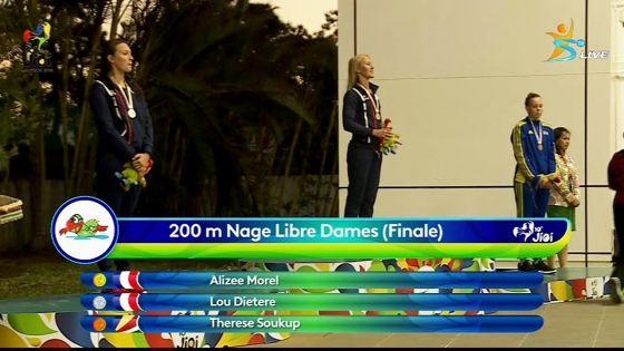 JIOI : Natation- La Réunionnaise Alizée Morel décroche l'or au 200 m nage libre