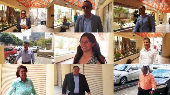 Législatives 2019 : défilé des éventuels candidats de l'Alliance Morisien (MSM-ML) au Sun Trust Building
