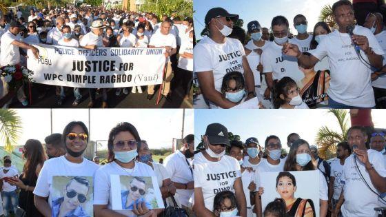 [En images] Candlelight et marche pacifique en mémoire de Dimple Raghoo et pour dire non à la drogue