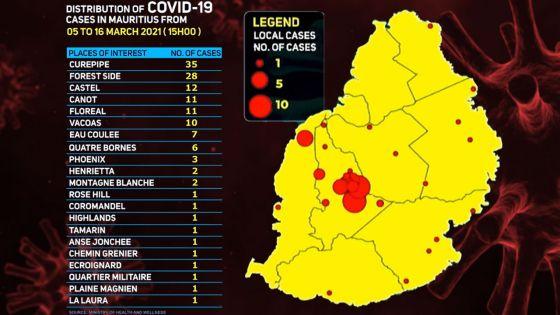 Covid-19 : les régions où les cas positifs ont été détectés
