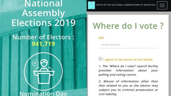 Législatives 2019 : l'application mobile «OEC Mauritius» lancée par le bureau de la Commission électorale