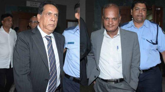 Condamnés à 9 mois de prison dans l'affaire Boskalis : Chady et Maunthrooa en liberté conditionnelle contre une caution de Rs 25 000 en attendant leur appel