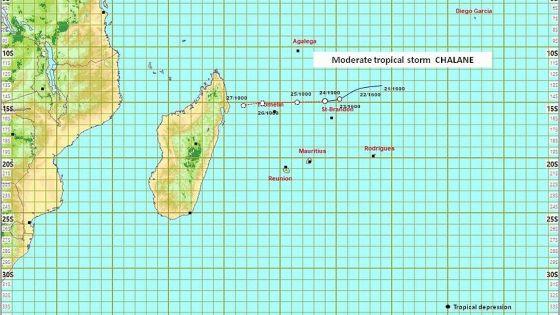 Météo : Chalane pas une menace directe pour Maurice, elle passera à 500 km de Cap-Malheureux demain matin