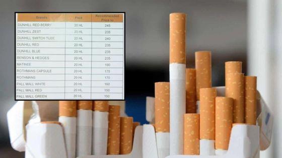 Cigarettes : hausse des prix de certaines marques