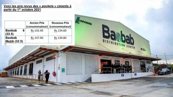 Construction : baisse des prix des ciments Baobab Mazik et Baobab 6