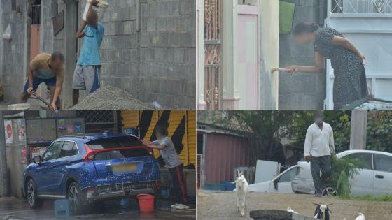 Dimanche en confinement : des Mauriciens en profitent pour nettoyer et réparer 'chez eux'
