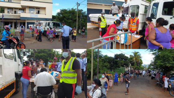 [En images] Petite-Rivière : distribution des denrées dans une ambiance bon enfant