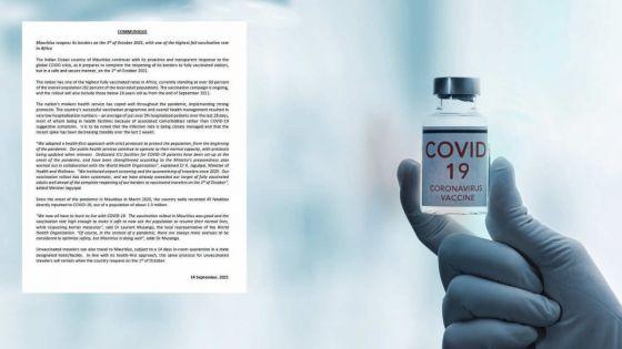 Ministère de la Santé - Cas positifs : «Un taux d'hospitalisation de 3% ces 28 derniers jours»