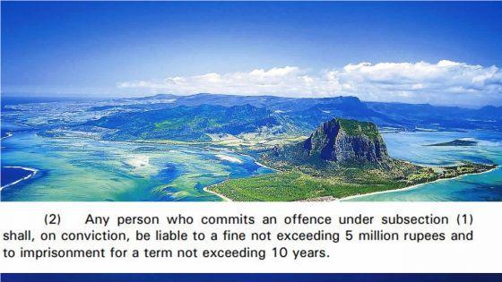 Amendement au code pénal : jusqu'à 10 ans de prison et Rs 5 M d'amende si une personne fournit des infos erronées sur la souveraineté de Maurice