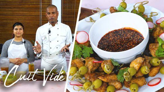 Avec «Cuit Vidé», épatez vos convives avec des brochettes de poulet sauce prune et soja