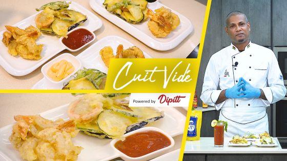 Cuit Vidé : découvrez les Crevettes & Légumes Tempuras à croquer avec les sauces 'Dipitt'