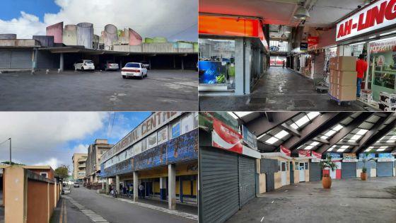 En images : centre-ville 'fantôme' à Curepipe