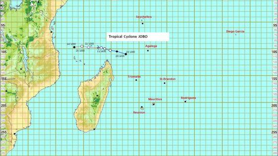 Météo : le cyclone Jobo n'influencera pas le temps à Maurice